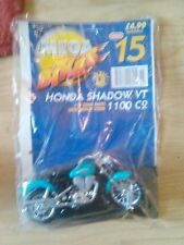 MEGA BIKES MAISTO MODEL HONDA SHADOW VT 1100 C2 & COLLECTORS FILE INFO ISSUE 15