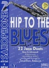 HIP TO THE BLUES 2 Alto Saxophone Duets Book & CD