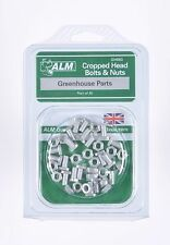 Pack of 20 Cropped head bolts and nuts set - Greenhouse Parts
