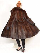 US506 Nice Mink fur coat jacket full length 70s Whole skins Nerzmantel ca. M