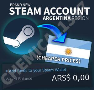 Brand New ARGENTINA STEAM ACCOUNT - ️🔥 Cheaper Store ️🔥 No VPN needed