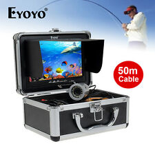 "Eyoyo 50m Underwater Video Camera Fish Finder 7"" HD LCD Lights Control&Sunvisor"