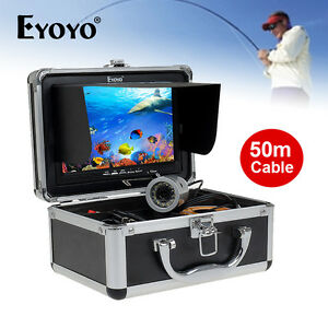 "Eyoyo 50M/165ft HD 1000TVL Fish Finder Underwater Camera 7"" LCD+Lights Control"