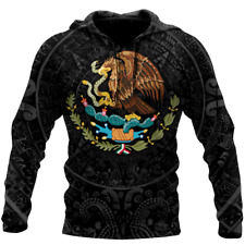 NEW Mexican Aztec Warrior 3D Hooide All Over Printed Best Price US Size Dad Gift