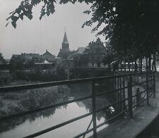 HAGUENAU c. 1900-20 - Maisons le long de la Rivière Clocher Bas-Rhin - NV 1579