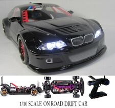 Custom 1/10 Scale Remote Control On-road Drift Car RC BMW M3 GLOSS BLK