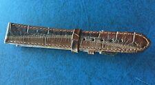 Bracelet De Montre GENUINE LEATHER ,18 mm ,marron