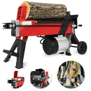 7 Ton Horizontal Electric Log Splitter Hydraulic Wood Timber Cutter 2200W Motor