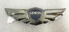 Hyundai GENESIS Sedan 2008-2013 GENUINE OEM Rear Wing Emblem Tail Black Chrome