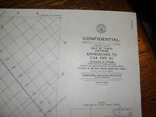 1966 NAUTICAL WAR CHART,APPROACHES TO CUA VAN Uc.,CONFIDENTIAL