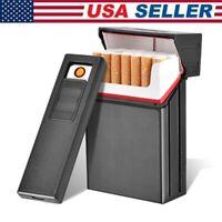 035A 20 Cigarette-Case Tobacco Dispenser Storage Box with Windproof Lighter NEW