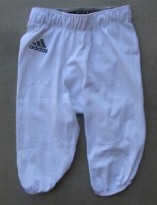 ADIDAS CLIMALITE WHITE FOOTBALL GAME PRACTICE PANTS WITH PAD INSERTS SIZE SMALL