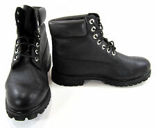 Timberland Boots 6 Inch Scuff-Proof Transulcent Heel Black Shoes Size 8