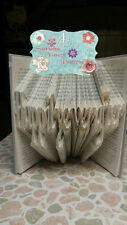 Happily Ever After Folded Book Art Folding PATTERN ONLY #567