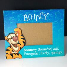 Walt Disney Tigger Picture Frame Bouncy Winnie Pooh 8X7 green blue photo springy