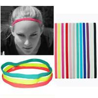 Girls Women Men Elastic Yoga Headband Sport Rubber Sweatband Thin Hair Band