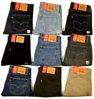 Genuine Levis 505 Jeans Regular Straight Fit Denim Mens W28-42 L29-36 RRP £85
