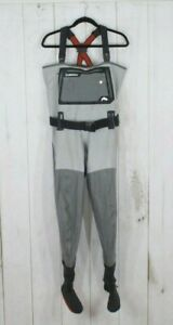 Simms Men's Gray G3 Gore-tex Fishing Stockingfoot Chest Waders AS IS Size L