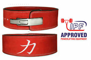 STRENGTH SHOP 10mm RED Powerlifting Lever Belt (L) - squats deadlifts gym sbd