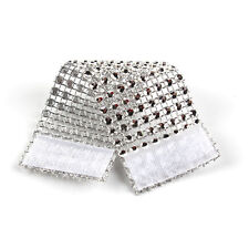 10 X Diamond Silver Napkin Ring Serviette Holder Wedding Party Chair Sash Decor