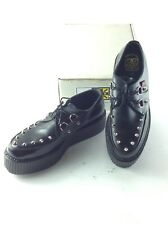 TUK NEW NIB leather Punk / Horror Goth MASOCHIST BLACK shoes Mens SZ 9