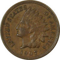 1907 Indian Head Cent XF EF Extremely Fine Bronze Penny 1c Coin Collectible