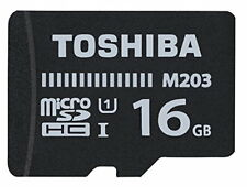 Toshiba M203 16GB MicroSD Class 10 U1 100MB/s with SD Adapter