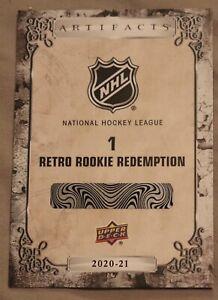 2020-21 Upper Deck Artifacts Retro Rookie Redemption #1 Alexis Lafreniere