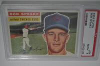 1956 Topps - #66 - Bob Speake - PSA 8 - NM-MT