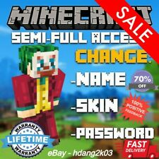 Premium Minecraft Account ⭐Mac/PC (Java) Edition⭐ Instant Delivery ✅WARRANTY