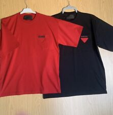 Prada men, oversized T-shirts, black and red, 100% Authentic
