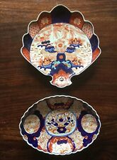 Antique Chinese IMARI Fan Shape Dish & Oval Dish. Unsigned