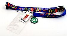 NEW Six Flags California Blue Justice League Green Lantern Lanyard Badge Holder
