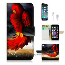 ( For iPhone 6 / 6S ) Wallet Case Cover P0185 Blood Parrot