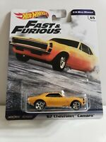 Hot Wheels Fast And Furious 1/4 Mile Muscle 67 Chevrolet Camaro FREE SHIPPING