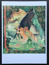 Blank Art Note Card Mermaids shipwreck Nos Pleiades Press #111 sea jewels shells