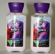 2 Bath & Body Works PLUM CIDER WARMTH Body lotion SHEA travel size 3 OZ