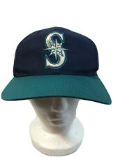 Vintage 90's Seattle Mariners MLB Snapback Hat Cap Twins Genuine Merchandise