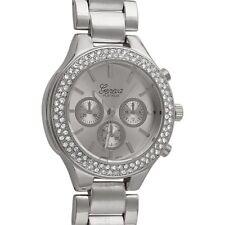 Silver Sporty Womens Crystal Fashion Watch