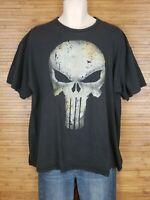 THE PUNISHER SKULL Marvel Comics Black T-Shirt Mad Engine Mens size 2XL
