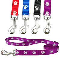 4pcs/lot Nylon Dog Puppy Pet Leads Leash Paw Print Cute for Dogs Walking 48''