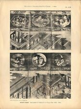 Stampa antica PARAVENTO CINESE Takeknon Ming 33-34 CINA CHINA 1920 Antique print
