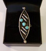 Vintage Native American Sterling Silver Shadowbox Design Ring