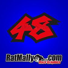 SHOYA TOMIZAWA 48 MOTOGP RACE NUMBERS STICKERS DECALS x3