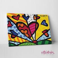 Romero Britto, A New Day, Stampa Fine Art su tela Canvas Cuore Arredo Bambini