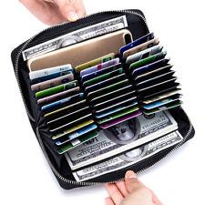Multifunktion Leder Geldbörse Kreditkartenetui Brieftasche Passport-Paket NEU