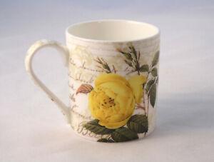 Heritage Fine Bone China Coffee Mug Teacup Stoke-On-Trent Made in England Rose