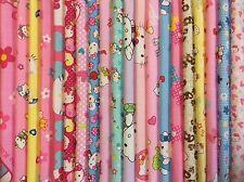 Lot de 20 tissus Hello Kitty Patchwork chaque tissu 40x40cm