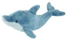 Plüschtier Delfin Kuscheltier Cuddlekins, Stofftier Plüsch Fisch grau ca.30cm