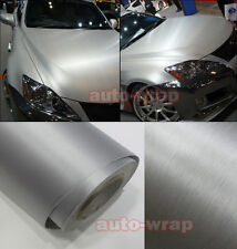 Entire Car Wrap Metallic Matte Brushed Silver Vinyl Steel Sticker 50FT x 5FT AC